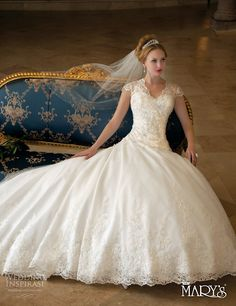 Wow. Fairytale Princess Collection by Mary's Bridal.
