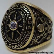 1928 New York Yankees World Series Ring. Babe Ruth and Lou Gehrig wore this ring.