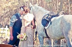 On Trend: An Equestrian Chic Wedding Vol. 3   Equestrian Wedding EP for SD bride groom grey kissing