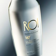 ROI Luxury Mineral Water. [#packaging #design #creative]