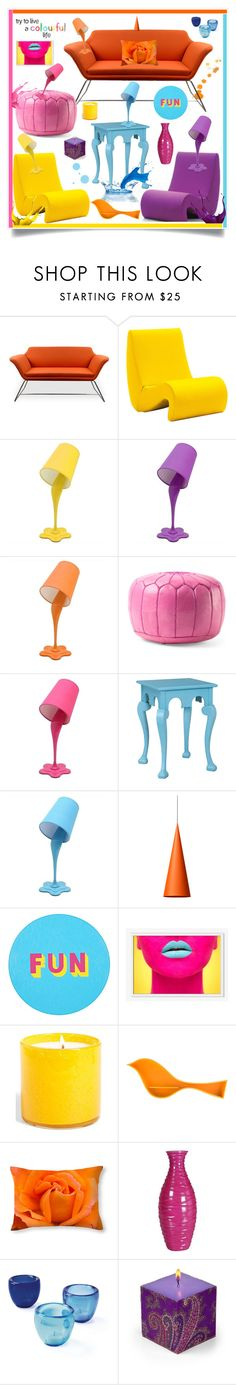 """""""Pour Some Colour Into Your Home"""" by southindianmakeup1990 ❤ liked on Polyvore featuring interior, interiors, interior design, home, home decor, interior decorating, Vitra, LumiSource, Wästberg and Lisa Perry"""
