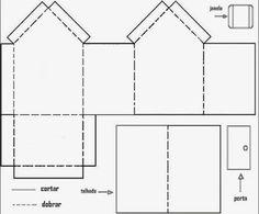 Educar X: Molde de casas de papel para montar