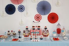 Nautical Themed Birthday party sweets table
