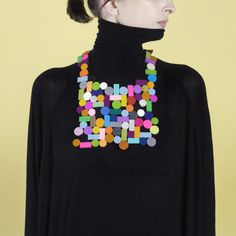 Fomu XL Multicolor Necklace by jibuu made in Spain Fomu XL Multicolor Necklace is made out of 100% wool felt. The jewelry piece si entirely handmade. on CROWDYHOUSE