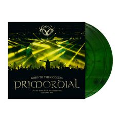 """Primordial+""""Gods+to+the+Godless+-+Marbled+Green""""+2x12""""+at+https://www.indiemerch.com/metalbladerecords/"""