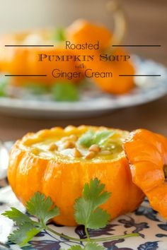 Roasted+Pumpkin+Ginger+Soup+-+A+delicious+Asian-inspired+soup+that's+super+flavorful+and+loaded+with+lots+of+healthy+veggies.