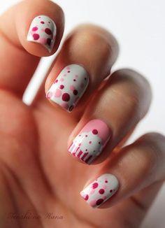 Cupcake Polka Dot Nails