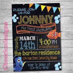 Finding Nemo Disney Nemo Birthday Invitation by CheeriozDezigns