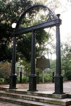 university of georgia arches... can't walk through them until you graduate, until then, you must walk  around...