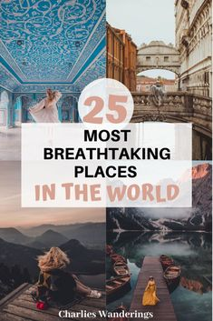 25 most breathtaking places in the world Beautiful Places In The World, Beautiful Places To Visit, Places Around The World, Travel Around The World, Cool Places To Visit, Best Countries To Visit, Places In Europe, Around The Worlds, Top Travel Destinations