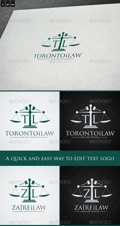 Law Firm Letters Logo — Photoshop PSD #court #law firm • Available here → https://graphicriver.net/item/law-firm-letters-logo/6493707?ref=pxcr