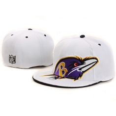 8.99 Baltimore Ravens Fitted 59 Fifty NFL White 118 Baltimore Ravens Hat 387b52c0e638