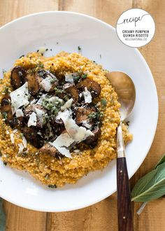 Creamy Pumpkin Quinoa Risotto Recipe | HelloNatural.co