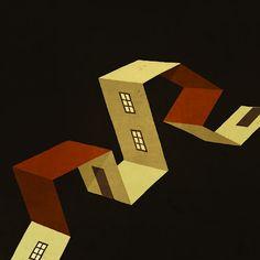Las casas ilustradas por Toni Demuro