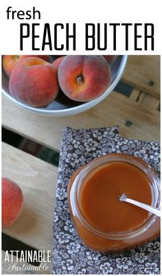 If you're lucky enough to have an abundance of fresh peaches, set some aside to make a batch of peach butter. You can opt to preserve this for the pantry, or simply store in the fridge for topping your breakfast toast, ice cream, or even just a spoon. Fruit Recipes, Real Food Recipes, Yummy Food, Entree Recipes, Summer Recipes, Peach Butter, Apple Butter, Sauces, Jam And Jelly