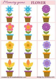 FLOWER - #MEMORY GAME FREE PRINTABLES