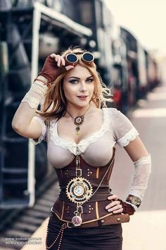 Funny pictures about Steampunk Model: Irina Mayer. Oh, and cool pics about Steampunk Model: Irina Mayer. Also, Steampunk Model: Irina Mayer photos. Moda Steampunk, Steampunk Couture, Style Steampunk, Steampunk Clothing, Steampunk Fashion, Gothic Steampunk, Steampunk Belt, Steampunk City, Steampunk Goggles