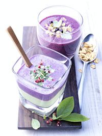 Wild Blueberry Avocado Smoothie Picture