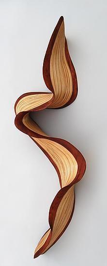 """Philadelphia Bubinga Wave""  Wood Wall Art  Created by Kerry Vesper"