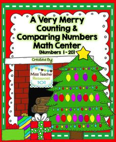 FREEBIE!  Differentiated Counting and Comparing Math Center with Recording Game Sheet Included *Standards: K.CC.A.3, K.CC.B.4, K.CC.C.6, K.CC.C.7*