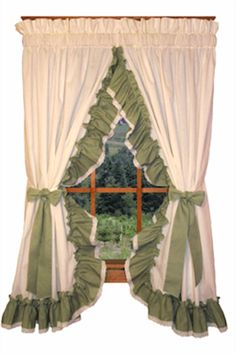 Priscilla Curtains | Country Curtains | Madelyn Curtains & Ruffled Curtains, Swags, Valances & Tiers | PaulsHomeFashions.com