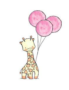Cute/Sweet Animals Giraffe. [Drawing]