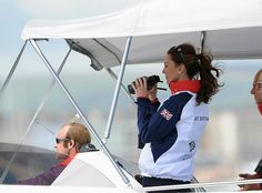 Kate Middleton takes in some of the sailing competition, makes windbreaker chic #olympics