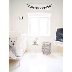 Mittlillehjerte all white kids room, Interior Design Styling Inspiration Norwegian blogger