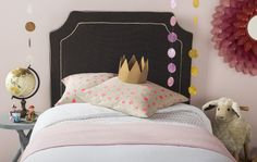 Safavieh's DANE CHARCOAL/LIGHT GREY HEADBOARD Item: MCR4032B Color: CHARCOAL/LIGHT GREY
