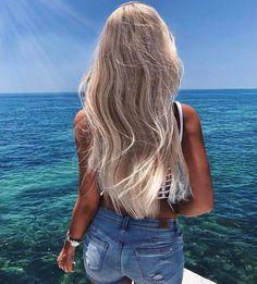 Platinum Blonde Balayage Ombre For Summer Haircolor - Dazhimen Ombre Hair platinum ombre hair Platinum Blonde Balayage, Balayage Blond, Blonde Ombre, Blonde Color, Blonde Hair Looks, Brown Blonde Hair, Blonde Hair For Summer, Light Blonde Hair, Color Rubio