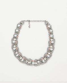 Image 2 of NECKLACE WITH COLORFUL CRYSTALS from Zara