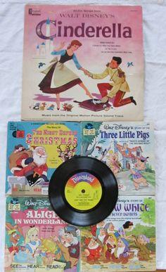 vintage DISNEY STORYBOOKS & RECORDS by TackledAndShackled on Etsy, $15.00