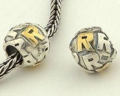 CLLE03SR 925 Sterling Silver Alphabet letter R Pandora Charms beads Pandora Letters