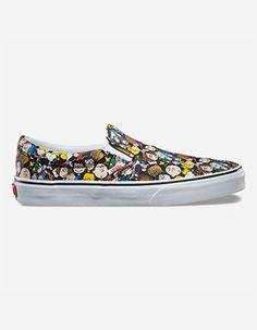 VANS x PEANUTS The Gang Classic Slip-On Shoes Multi