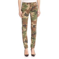 Rag & Bone Camo Skinny Jeans ($305) ❤ liked on Polyvore featuring jeans, apparel & accessories, camo, denim skinny jeans, 5 pocket jeans, rag bone jeans, skinny leg jeans and skinny fit denim jeans