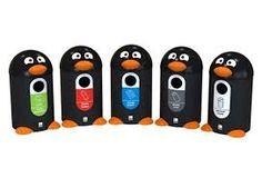 penguin recycling bins, fun and engaging