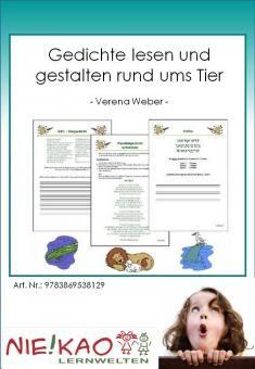 Unterrichtsmaterial, Übungsblätter für die  Grundschule | Gedichte lesen und gestalten rund ums Tier | online bestellen bei Niekao Lernwelte... www.niekao.de
