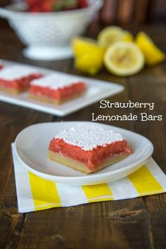 Creamy Strawberry Lemonade Bars {Dinners, Dishes, and Desserts}