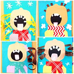 Learn how to make this adorable kids craft of children catching snowflakes on their tongue! It comes with a free printable template too! Perfect winter craft.