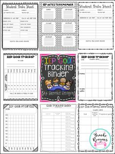 IEP Goal Tracking Binder. This is a must have for every Special Education Teacher! Stay super organized and on top of things with this binder!