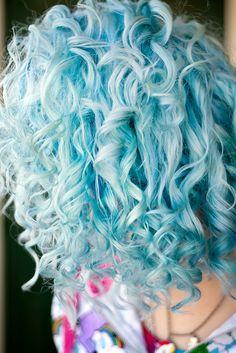 Gorgeous cotton candy blue hair!