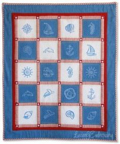 Ocean Dreams Machine Embroidery Quilt-As-You-Go Crib Quilt by LindeeGEmbroidery Tutorial