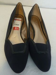 6392316473a9 Circa Joan   David Midnight Navy Fabric Patent Leather Low Wedge Heels Size  9.5  fashion  clothing  shoes  accessories  womensshoes  heels (ebay link)