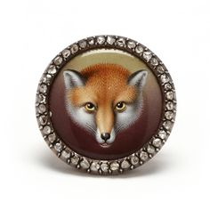 Victorian Silver Topped Gold, Enamel and Diamond Fox Brooch: Leland Little Auctions