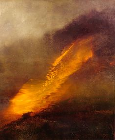 Pour Painting: The Yellow Cloud by Maurice Sapiro
