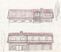 Front and back house design
