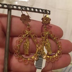 "NWT! Mexican filigree earrings! New with tags! Mexican gold tone filigree earrings! Measures 2"" Jewelry Earrings"