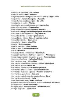 Medicamentos Homeopáticos – Sintomas de A a Z 19 Confusão de identidade – Lac caninum Confusão mental – China officinalis ...