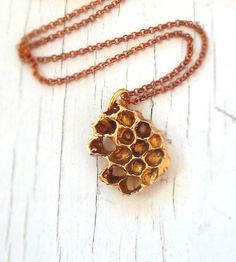 Honeycomb Necklace by Chase and Scout on Scoutmob