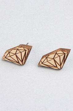 GoodWood The Diamond Stud Earrings in Natural : Karmaloop.com - Global Concrete Culture